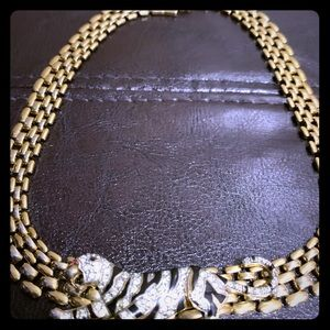 Tiger gold necklace